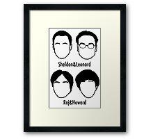 Men of Big Bang Theory Framed Print