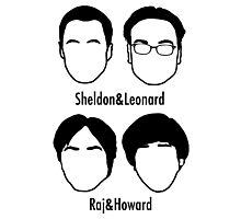 Men of Big Bang Theory Photographic Print