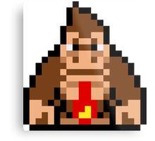 Pixel Donkey Kong Metal Print