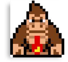 Pixel Donkey Kong Canvas Print