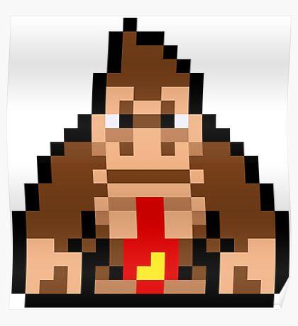 Pixel Donkey Kong Poster