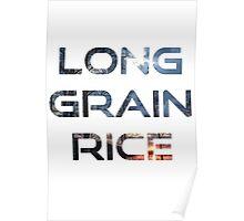 Long Grain Rice Poster