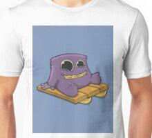 Yeti sledding w/ BG Unisex T-Shirt