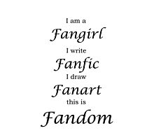 Fangirl Photographic Print