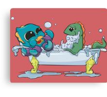 Kraken & Loch Ness in the Bathtub w/ BG Canvas Print