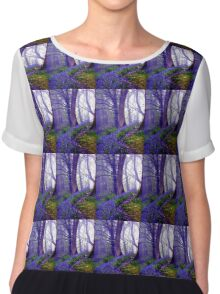 Bluebells in the Forest Rain Chiffon Top