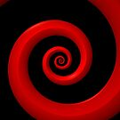 Red/Black Spiral by Lyle Hatch