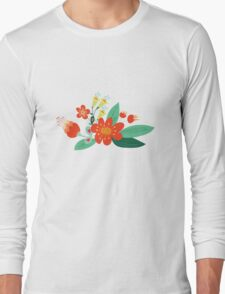 Flowers and hearts Long Sleeve T-Shirt