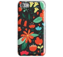 Flowers and hearts iPhone Case/Skin