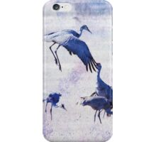 Hopping Crane iPhone Case/Skin