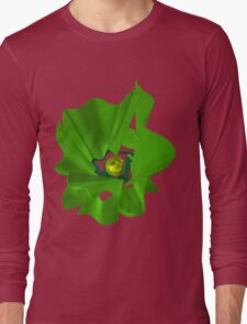 Green abstract flower. Long Sleeve T-Shirt