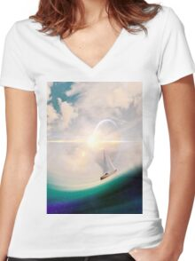Set Sail for Home Women's Fitted V-Neck T-Shirt