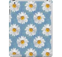 Daisy Blues - Daisy Pattern on Cornflower Blue iPad Case/Skin