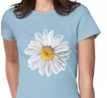 Daisy Blues - Daisy Pattern on Cornflower Blue Womens Fitted T-Shirt