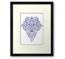 Blue Animal Ink Framed Print