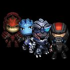 Mass Effect Miniaturized Chaaracters by mnzero