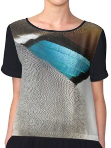 The warm plumage abstract of a duck Chiffon Top