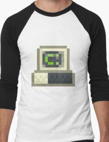 Pixel IBM PC Men's Baseball ¾ T-Shirt