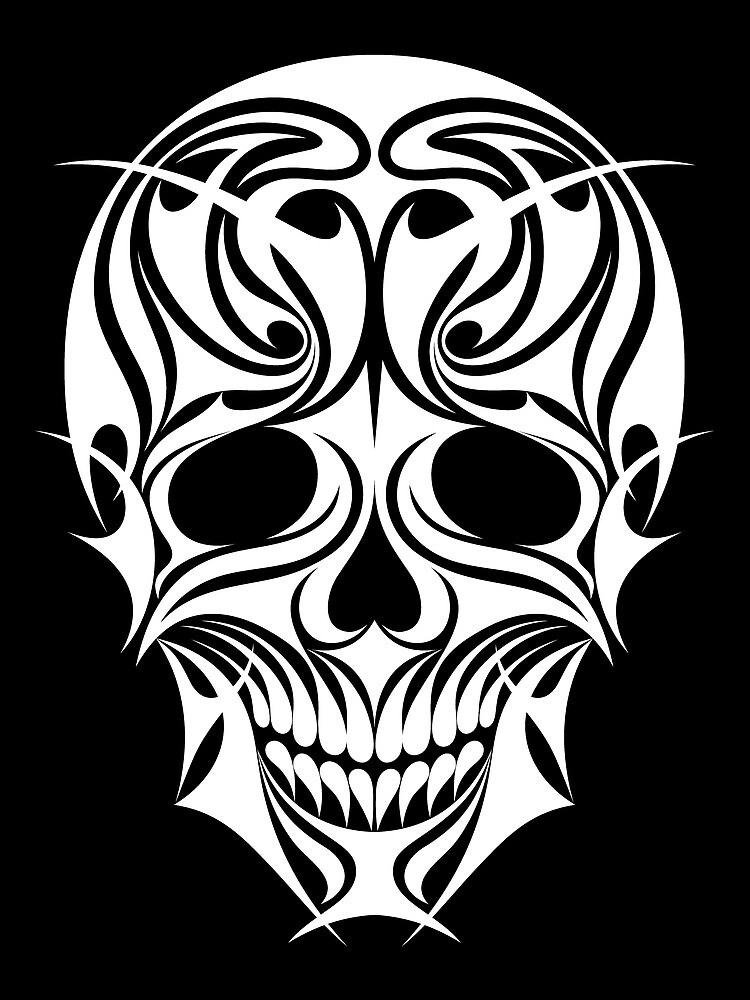 Abstract Scull Illustration by serkorkin
