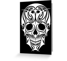 Abstract Scull Illustration Greeting Card