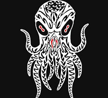Tribal Cthulhu (White) Unisex T-Shirt