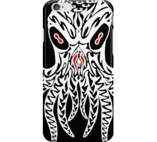 Tribal Cthulhu (White) iPhone Case/Skin
