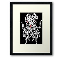Tribal Cthulhu (White) Framed Print