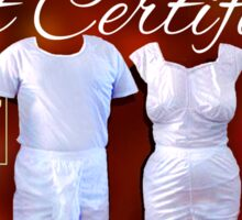 Mormon Underwear - X-Mas Gift Certificate! Sticker