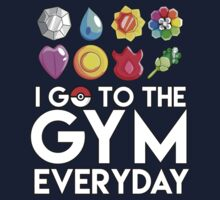 Pokemon - I GO TO THE GYM EVERY DAY - Transparent One Piece - Short Sleeve