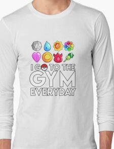 Pokemon - I GO TO THE GYM EVERY DAY - Transparent Long Sleeve T-Shirt