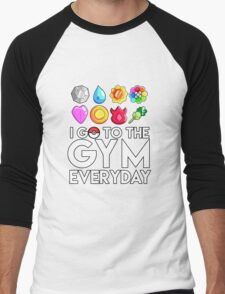 Pokemon - I GO TO THE GYM EVERY DAY - Transparent Men's Baseball ¾ T-Shirt