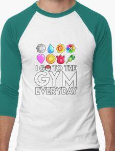 Pokemon - I GO TO THE GYM EVERY DAY - Transparent Men's Baseball ¾ T-Shirt
