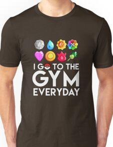 Pokemon - I GO TO THE GYM EVERY DAY - Transparent Unisex T-Shirt