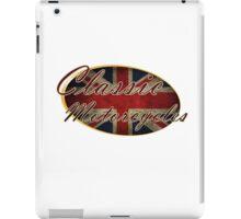 Classic British Motorcycle Design iPad Case/Skin
