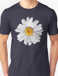 Daisy Blues #2 - Daisy Pattern on Navy T-Shirt