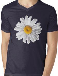 Daisy Blues #2 - Daisy Pattern on Navy Mens V-Neck T-Shirt