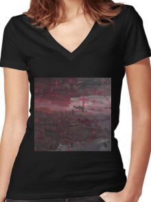 Light Amongst The Storm Clouds Women's Fitted V-Neck T-Shirt