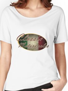 Classic Italian Motorcycle Design Women's Relaxed Fit T-Shirt