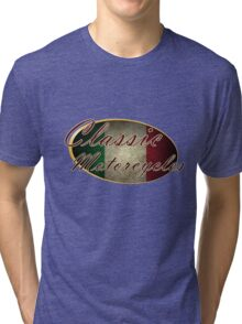 Classic Italian Motorcycle Design Tri-blend T-Shirt