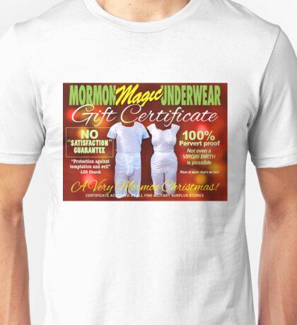 Mormon Underwear - X-Mas Gift Certificate! Unisex T-Shirt