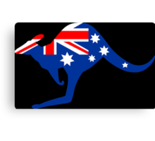 Australian Kangaroo Flag Canvas Print