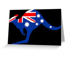 Australian Kangaroo Flag Greeting Card