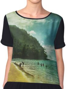A Day At The Beach Chiffon Top