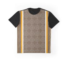 Brown Cream and Orange Set Graphic T-Shirt