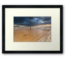 Storm Surfer Framed Print