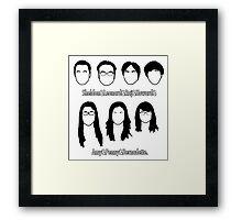 Everyone - Big Bang Theory Framed Print