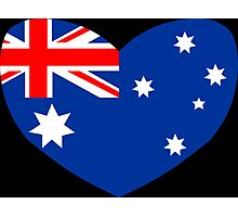 Heart Shaped Australian Flag Photographic Print