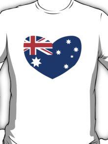 Heart Shaped Australian Flag T-Shirt