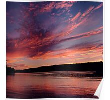 Lake Ouachita Sunset Poster