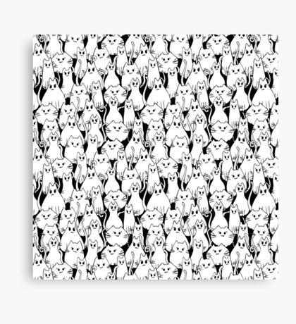 Cat Army Canvas Print